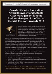 Canada Life wins at Irish Pensions Awards 2012 - Best Advice