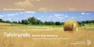 Tafelrunde Marke Brandenburg - Reiseland Brandenburg