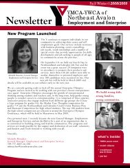 Employment and Enterprise Newsletter Fall Winter 2008/2009