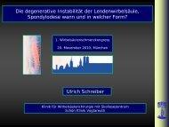 Folien U. Schreiber - 3. Wirbelsäulenschmerzkongress