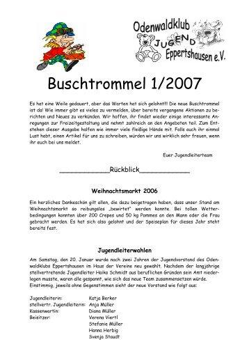 Buschtrommel - Odenwaldklub Eppertshausen