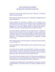 Instrucciones para trabajo Gescom - Microweb