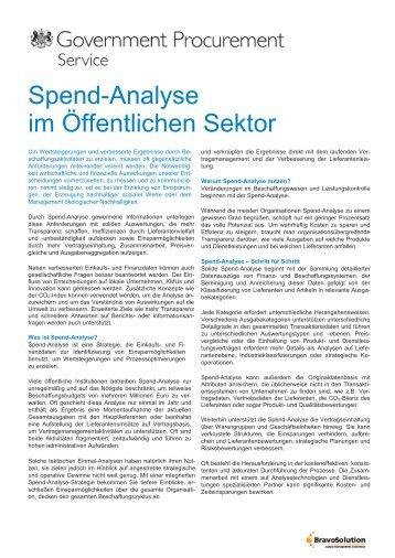 Spend-Analyse im Öffentlichen Sektor