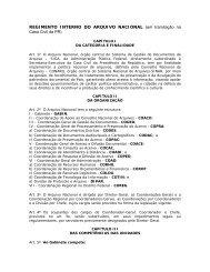 REGIMENTO INTERNO DO ARQUIVO NACIONAL (em tramitação ...