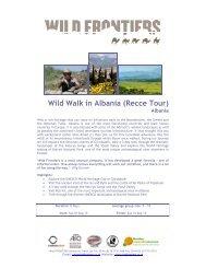 Wild Walk in Albania (Recce Tour) - Wild Frontiers