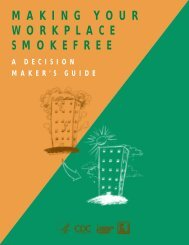 Making Your Workplace Smokefree - Four Corners Health Department
