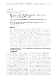 The impact of foliar fertilization on the number of bees (Apoidea) on ...