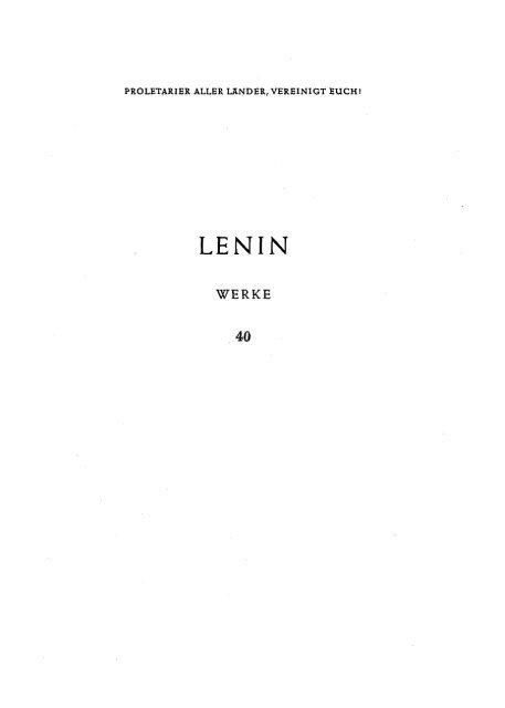 Lenin Werke Band 40 Red Channel