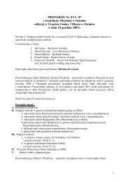 PROTOKÓŁ Nr XVI / 07 z Sesji Rady Miejskiej w Ozimku odbytej w ...