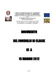 documento documento del consiglio di classe l consiglio di classe l ...
