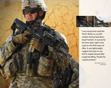 """""""I was issued and used the TA31F ACOG on my M4 carbine during ..."""