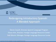 Case Study: The University of North Carolina - National Center for ...