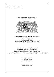 Ortsumgehung Vilshofen - Die Regierung von Niederbayern