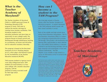 Teacher Academy of Maryland - Charles County Public Schools