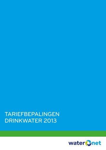 Tariefbepalingen drinkwaTer 2013 - Waternet