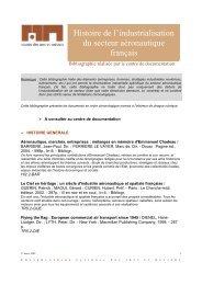 Histoire de l'industrialisation du secteur aéronautique français