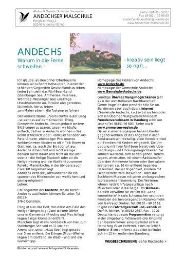 ANDECHS - Susanne Hauenstein