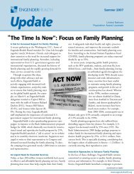 "The Time Is Now"": Focus on Family Planning "" - EngenderHealth"