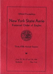 1941 - New York State Aerie