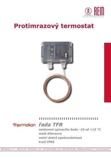 Protimrazový termostat TFR - REM-Technik sro