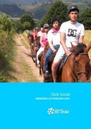 Club Social. Memorias 2011 - Fundación Rey Ardid
