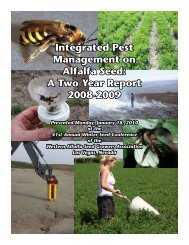 Integrated Pest Management on Alfalfa Seed: A Two-Year Report ...