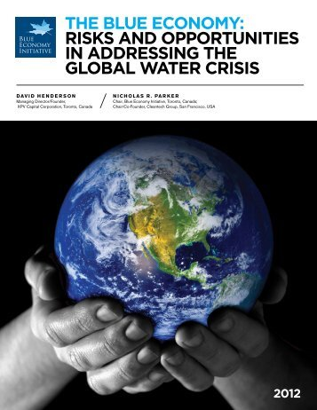 Risks and oppoRTuniTies in addRessing The gloBal WaTeR cRisis