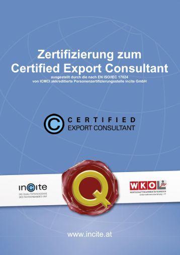 Zertifizierung zum Certified Export Consultant - Incite