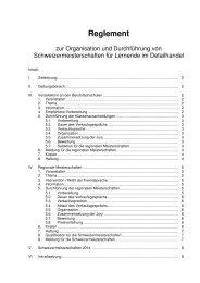 Wettkampfreglement - Bildung Detailhandel Schweiz (BDS)