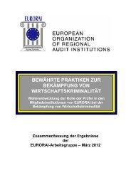 Bericht der Arbeitsgruppe zur Prüfung von Betrug und ... - Eurorai.org