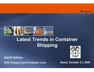 Latest Trends in Container Shipping - Propeller Club Basel