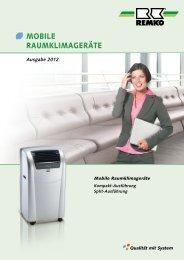 Mobile Raumklimageräte in Split-Ausführung - Remko