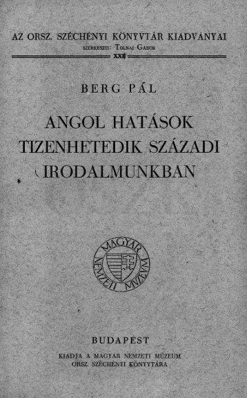Berg Pál - Országos Széchényi Könyvtár