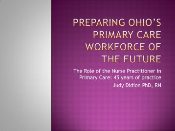 The Role of the Nurse Practitioner in Primary Care: 45 years of ...