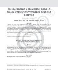 salud escolar y educación para la salud - Hacia la Promoción de la ...