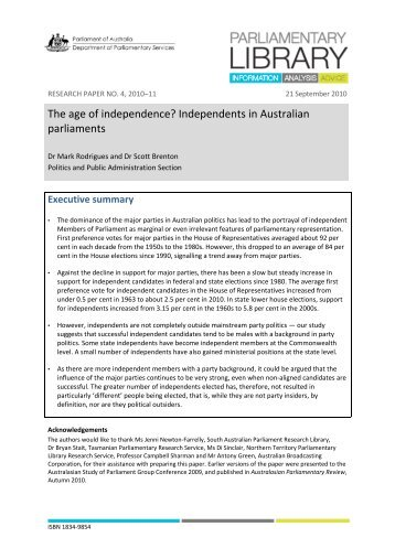 australian parliamentary library research paper Research paper no 3, 2011–12 17 november 2011  this is a simple blog to allow discussion of australian health it issues the purpose is quite simple to have ict used to greater and more beneficial effect in the australian health sector  some commentary on the parliamentary library paper weekly overseas health it links.