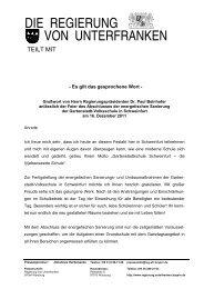 2011 - Regierung von Unterfranken - Bayern