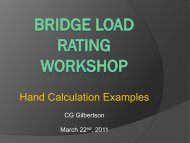 Hand Calculations for Load Ratings Presentation