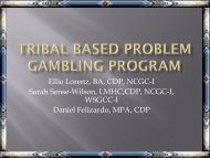 Tribal Based Problem Gambling Program - The National Council on ...