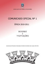 Comunicado Oficial Nº 1 - Associação de Futebol de Santarém