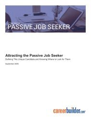 Attracting the Passive Job Seeker - Icbdr