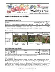 Healthy Fruit, Issue 4, April 22, 2008