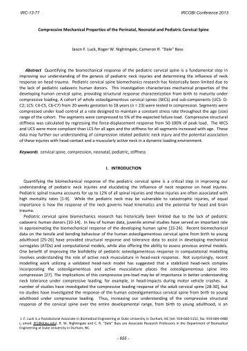 Compressive Mechanical Properties of the Perinatal ... - IRCOBI