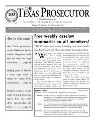 TEXASPROSECUTOR - Texas District & County Attorneys Association