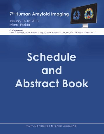 Schedule and Abstract Book - World Events Forum, Inc.