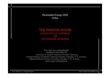What does speak against the Passive House? - Renewables Made ...