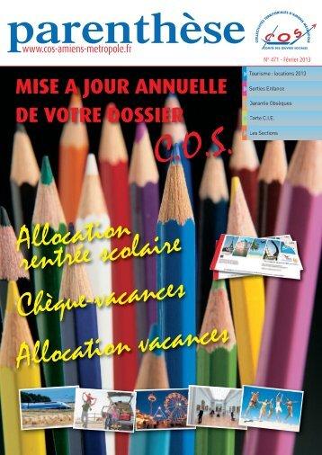 parenthése-471-février-2013 - Comité des Oeuvres Sociales d ...