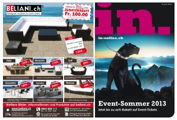 Event-Sommer 2013 - in-online.ch