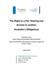 The Right to a Fair Hearing and Access to Justice - Human Rights ...