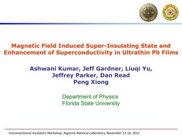 Magnetic Field Induced Super-Insulating State and Enhancement of ...